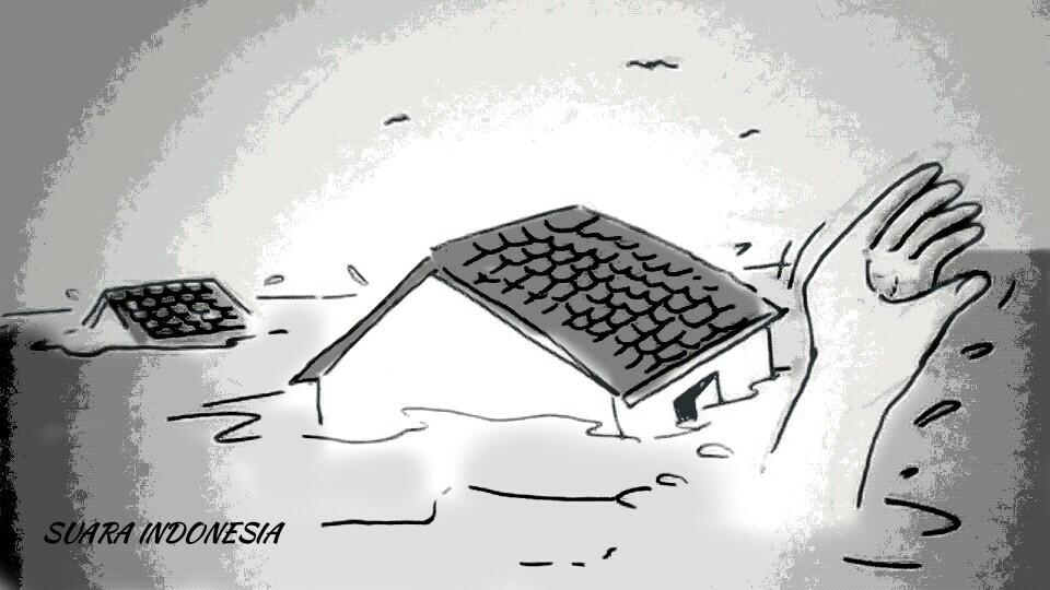 Empat Kecamatan di Kalbar Diterjang Banjir, 751 Rumah Terendam