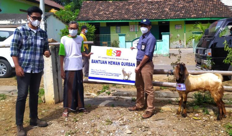 Jelang Idul Adha Ditengah Pandemi, UTSG Tuban Bagikan Hewan Kurban Untuk Masyarakat