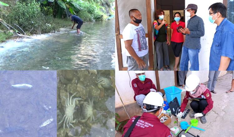 Sungai Pemandian Bektiharjo Tercemar Gas Amonia, Tim Ahli dan DLH Tuban Sidak Pabrik Es