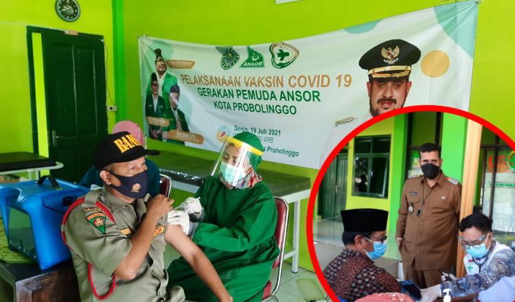 Dukung Program Pemerintah, GP Ansor Kota Probolinggo Vaksinasi Pengurus dan Kader