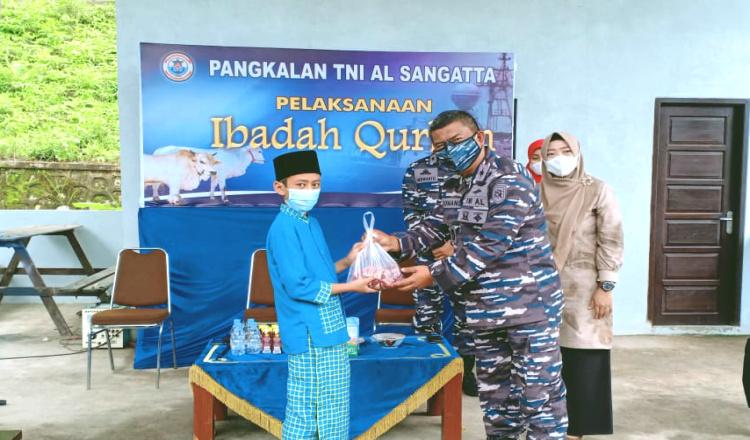 Rayakan Idul Adha, Lanal Sangatta Distribusikan Daging Qurban ke Panti Asuhan