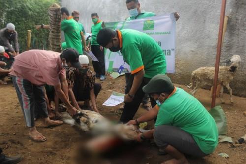 BMT Binamas Purworejo Distribusikan Daging Kurban di Desa Rawan Longsor