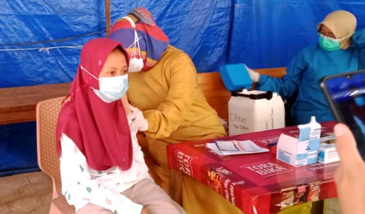 Sudah Uji Klinis, Anak-anak di Tuban Mulai Ikuti Serbuan Vaksinasi Kodim 0811