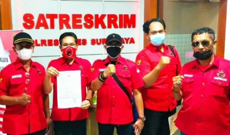 Petinggi PDIP Alami Aksi Vandalisme, Pasukan Banteng Surabaya Laporkan ke Polrestabes