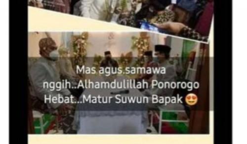 Bupati Ponorogo Hadiri Akad Nikah saat PPKM, Warganet: Ditandatangani Sendiri, Dilanggar Sendiri