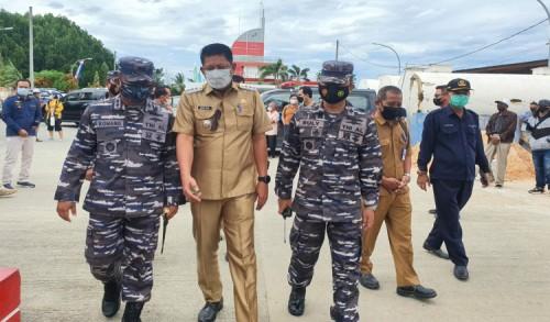 TNI AL Gencarkan Serbuan Vaksin Bagi Masyarakat Maritim, Lanal Sangatta Sasar Kota Bontang