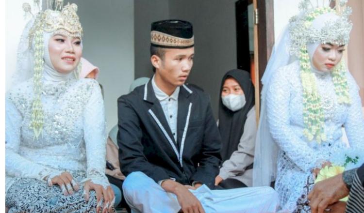 Berawal dari Cinta Segitiga, Pemuda di Lombok Nikahi 2 Kekasihnya Sekaligus