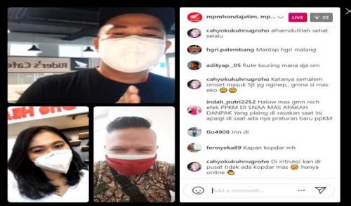 Komunitas Honda Genio Riders Indonesia Chapter Malang Gelar Kopdar Online