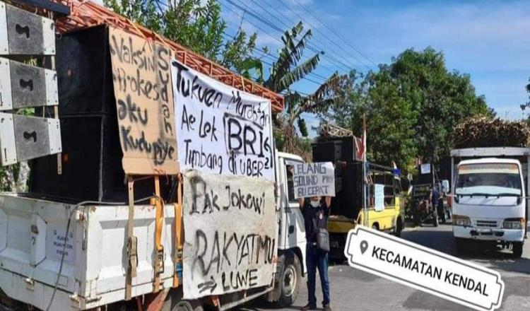 Protes PPKM, Pengusaha Hiburan di Ngawi Unjuk Rasa, Demonstran: Sambil Jual Sound System