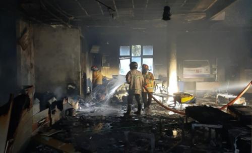 Korsleting Listrik, Bank Jateng Cabang Purworejo Terbakar