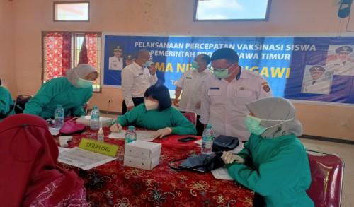 Percepatan Herd Immunity, Ribuan Pelajar di Ngawi Divaksin
