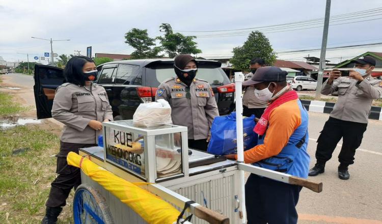 Operasi Aman Nusa II, Satbinmas Polres Kutim Sasar PKL hingga Isoman