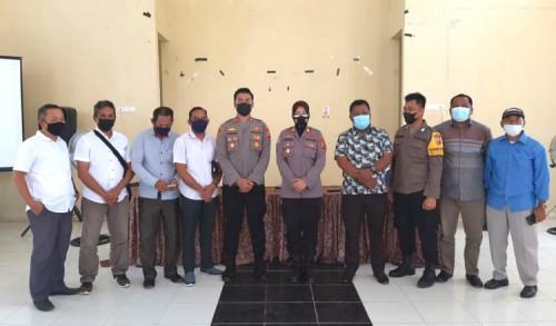 Tingkatkan Pelaksanaan Ronda Covid, Satbinmas Polres Kutim Lakukan Ini di Teluk Lingga