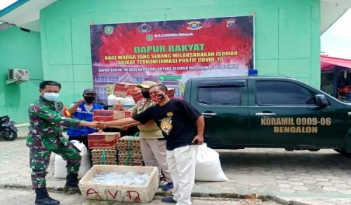 Koramil 0909-06/Bengalon Serahkan Bantuan untuk Dapur Rakyat, Danramil: Dari Rakyat, Untuk Rakyat