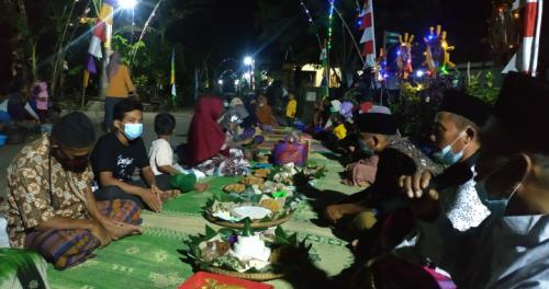 Peringatan HUT RI, Warga di Purworejo Gelar Tradisi Kembul Bujono