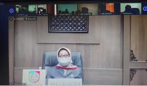 Rapat Paripurna Virtual DPRD Jombang Sampaikan Pandangan Akhir 2 Raperda
