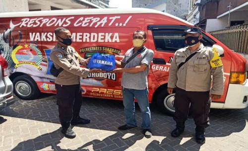 Yamaha Jatim Dukung Percepatan Vaksinasi Polrestabes Surabaya