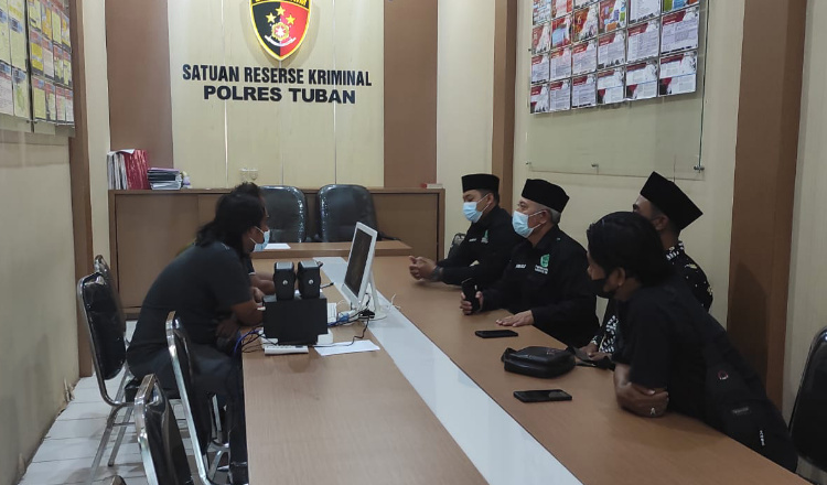 Datangi Polres, Pagar Nusa Tuban Pertanyakan Kasus Pengeroyokan yang Menimpa Anggotanya