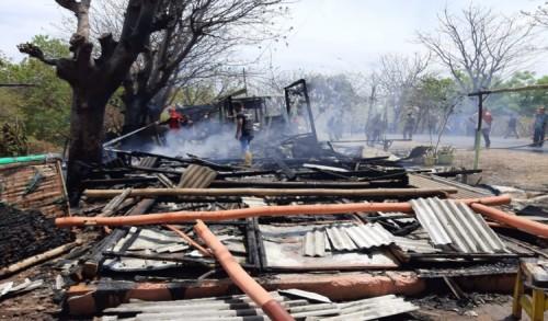 Kebakaran Warung Hebohkan Warga Sumberkolak Situbondo