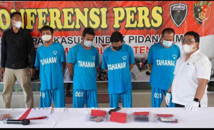 Empat  Penjual Judi Togel Singapura di Jateng Diringkus Polisi