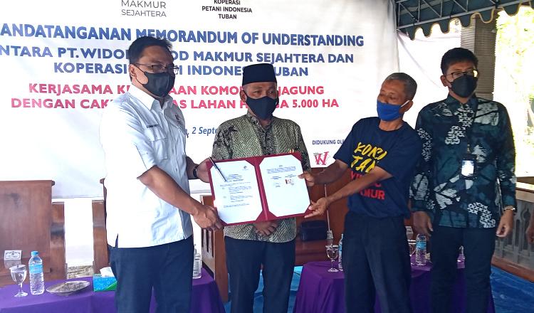 PT WidodoFood Tandatangani MoU dengan Koperasi Petani Indonesia Tuban