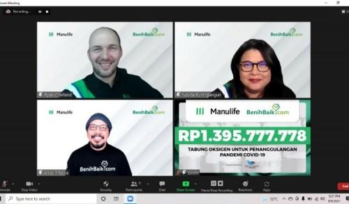 Serius Perangi Pandemi Covid-19,Manulife Indonesia Donasi 500 Tabung Oksigen