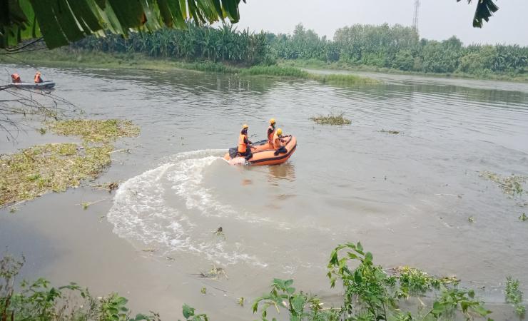 Seorang Pria Tenggelam di Sungai Brantas Jombang