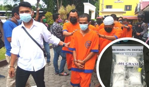 Kecelakaan, Kurir Shabu dan Ekstasi Setengah Kilogram Diringkus Polresta Probolinggo