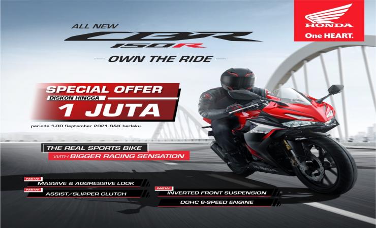 Asik, MPM Beri Penawaran Khusus Pembelian Motor Sport Honda