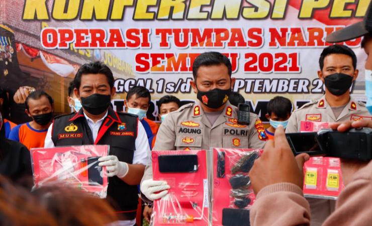 Operasi Tumpas Narkoba Semeru Polres Jombang Berhasil Amankan 26 Tersangka