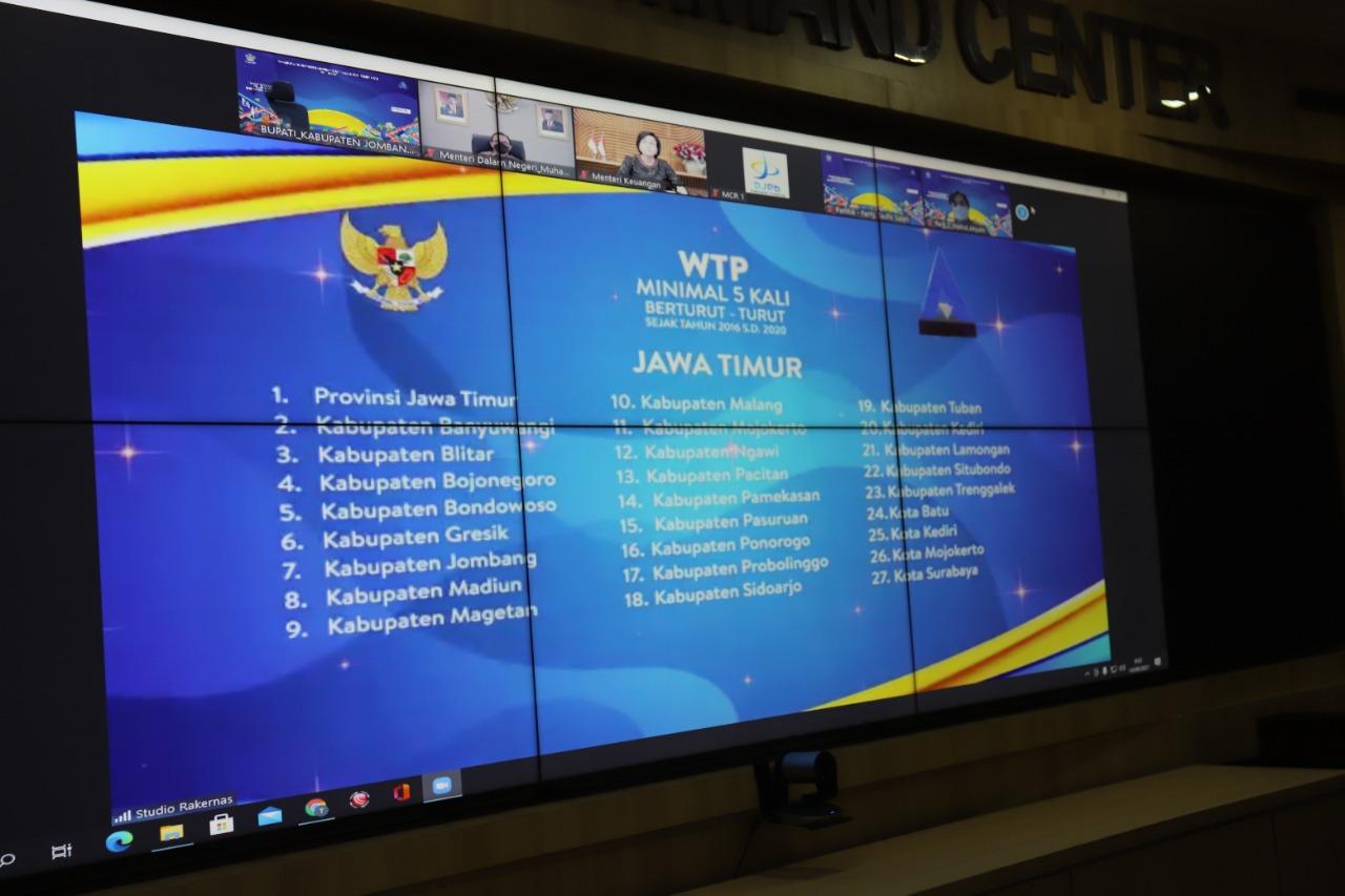 Kabupaten Jombang Kembali Lagi Raih Penghargaan WTP dari Kementerian Keuangan RI