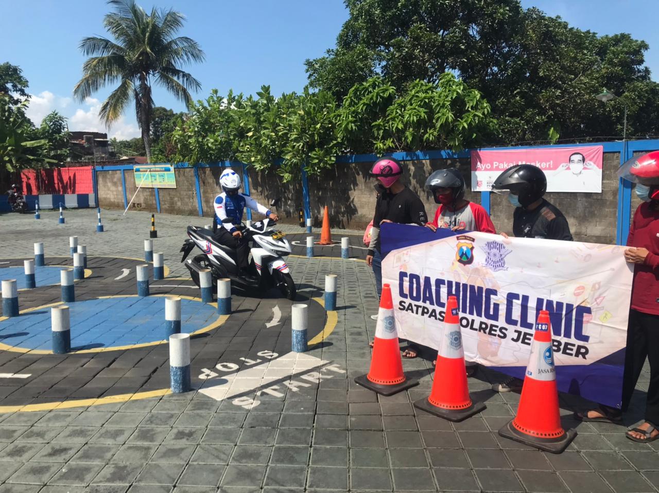 Minimalisir Gagal Uji Praktek SIM, Satlantas Polres Jember Siapkan Coaching Clinic