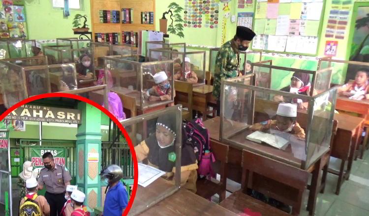 Prokes Ketat Pembelajaran Tatap Muka PPKM Level II di Madrasah