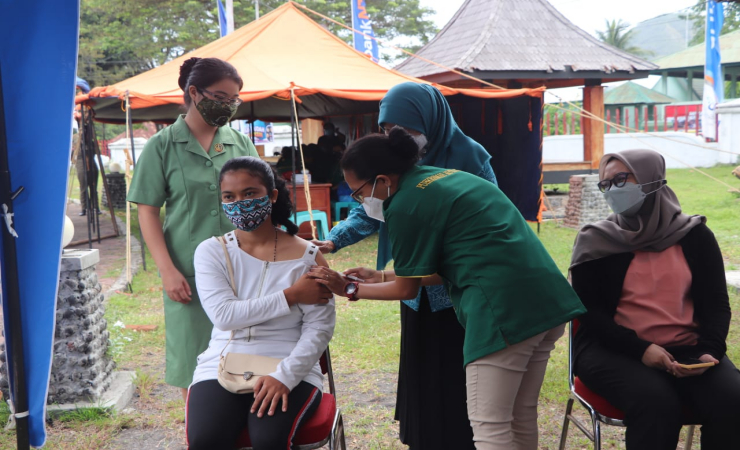 100 Bumil di Ende Disuntik Vaksin Anti Covid