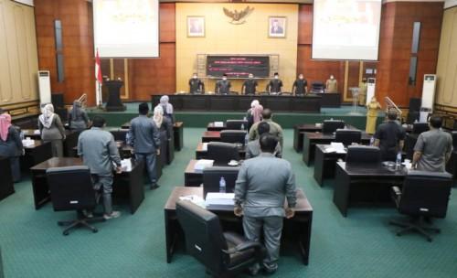 Paripurna Nota Penjelasan atas Raperda Tentang APBD Kabupaten Jombang tahun 2022   Menyusut Sekitar Rp 300 Miliar