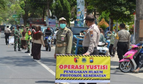 Satgas Covid-19 Bondowoso Gelar Operasi Yustisi, Disiplinkan Masyarakat Terapkan Prokes