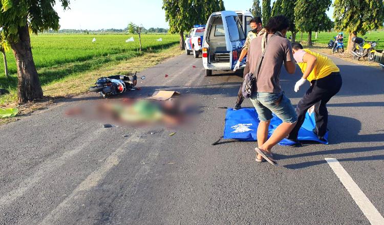 Serempet Pejalan Kaki, Pengendara Motor Terjatuh dan Tewas Terlindas Truk Trailer di Tuban