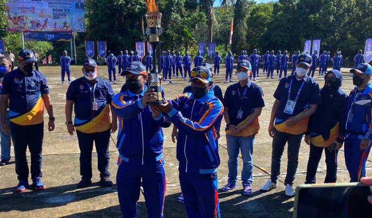 Kirab Api PON Papua Dilepas dari Sorong