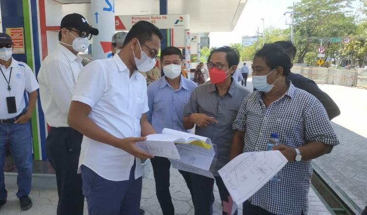 Komisi C Persoalkan Pembangunan Drainase pada SPBU MERR Surabaya