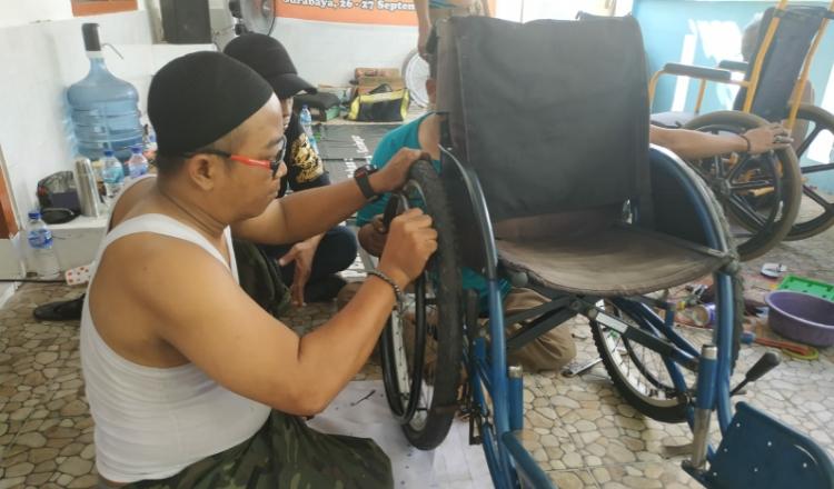 Disable Motorcycle Indonesia Jatim Adakan Pelatihan Servis Kursi Roda