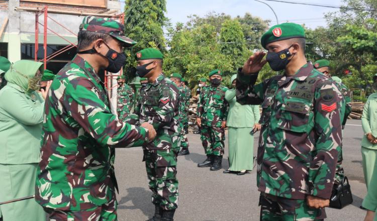 53 Prajurit Kodim 0708 Purworejo Naik Pangkat Bertepatan dengan Hari Kesaktian Pancasila
