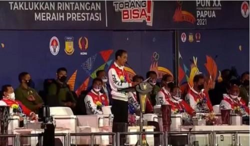 Jokowi: PON Panggung Persatuan dan Panggung Keadilan