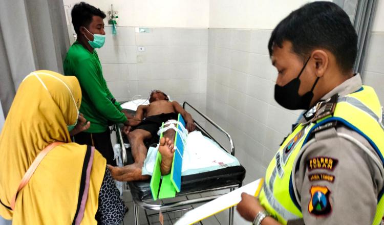 Kecelakaan di Tuban, Dua Motor Bertabrakan di Jalan Pantura Para Korban Luka-luka