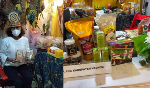 PKK Keerom Pamerkan Produk Unggulannya di Pameran Kopi UMKM PON XX Papua