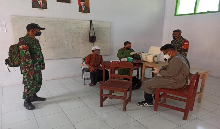 Pelaksanaan Vaksinasi 1000 Santri Ponpes Manbaul Ulum Bondowoso Terapkan Prokes