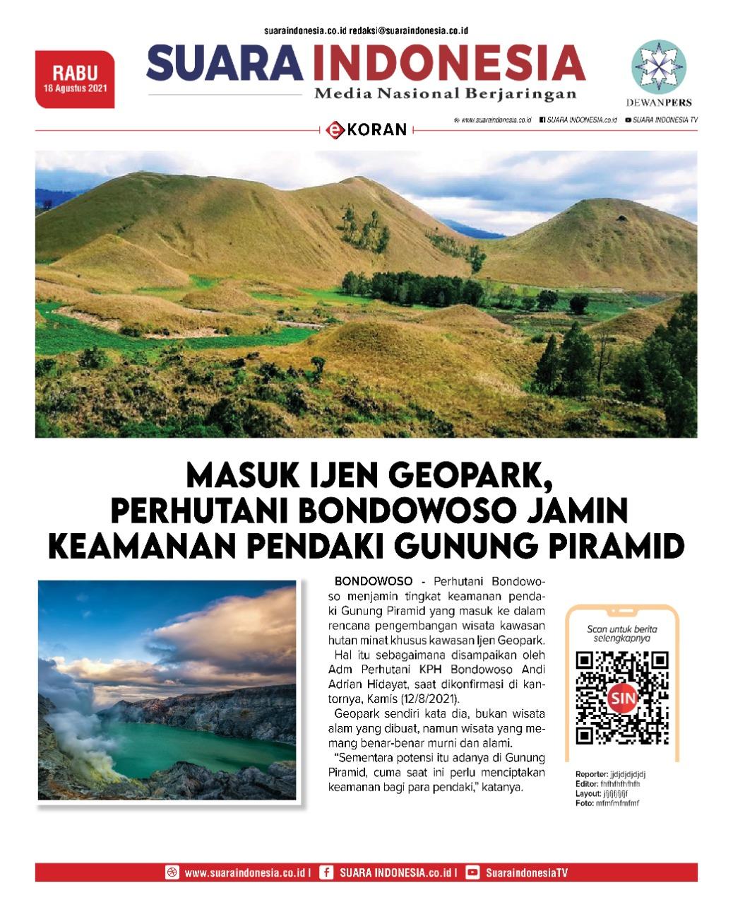 Ijen Geopark, Perhutani Bondowoso Jamin Keamanan Pendaki
