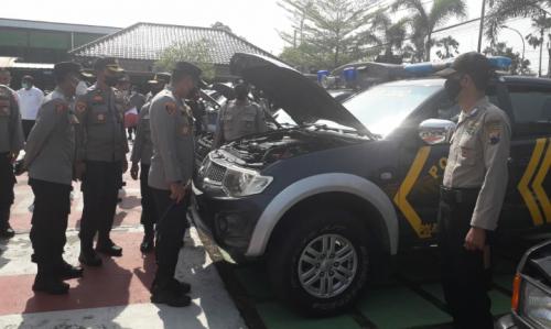 Jaga Kelayakan Jalan, Polres Purworejo Periksa 184 Ranmor Jajaran Polsek
