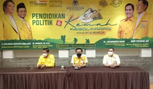 HUT ke-57, Komitmen Golkar Surabaya Terus Berkarya untuk Masyarakat