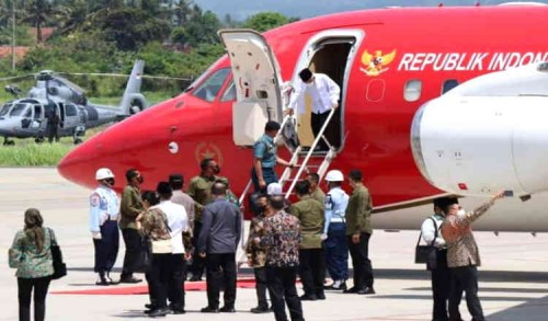 Gunakan Pesawat Kepresidenan, Wapres Ma'ruf Amin Kunjungi Banyuwangi dan Situbondo